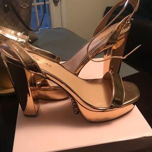 Wide width Rose gold heels size 11(never worn)